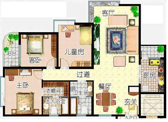 示范样板住宅平面图图片